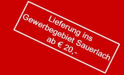 Pizza-Lieferung ins Gewerbegebiet Sauerlach